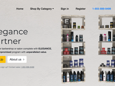 Landing page for beauty products bootstrap4 responsive grooming hair products cosmetics beauty bootstrap design ecommerce landing page