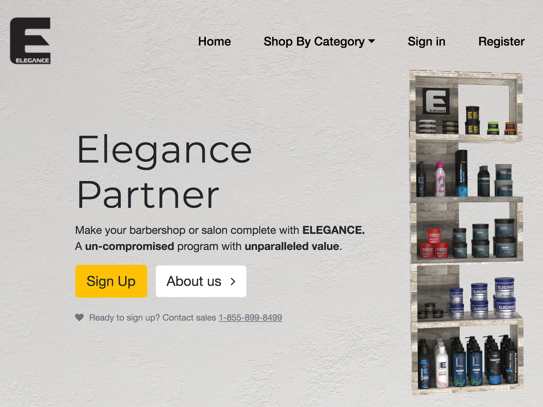 Landing page beauty products