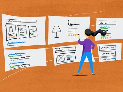 Structured Data Illustration marketing seo illustration schema
