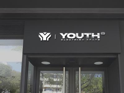 YOUTH | Sign logotype branding logo mockup design