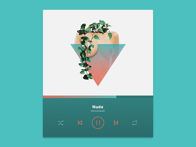 Cut It Out Series: Torso player music gradient visual ux ui flower hands geometric design collage digital