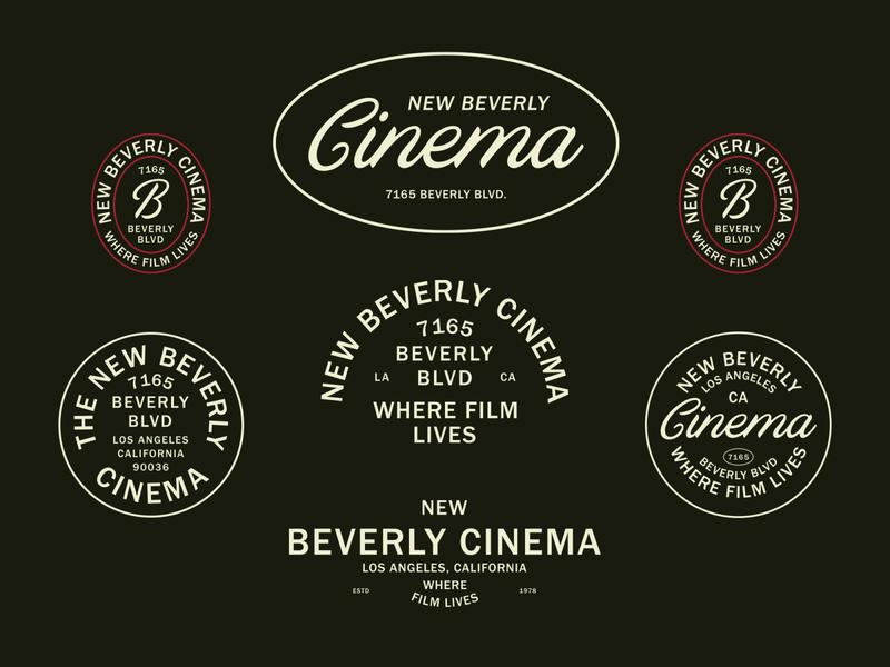 New Beverly Cinema Logo Suite typographic logo retro brand identity badge logo badgedesign typography logodesign logotype logo branding