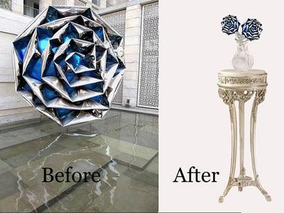 Rose before after flower photoshop image editing image manipulation