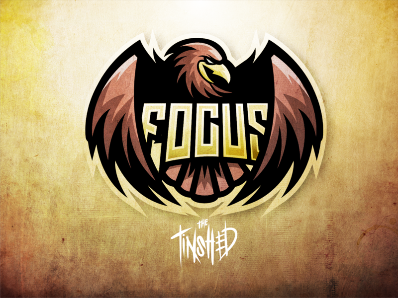 """FOCUS"" eagle logo for streamer. twitch twitch.tv twitch logo esportslogo branding esports mascot digital artist logo design digital illustration procreate graphic design illustration digital art"