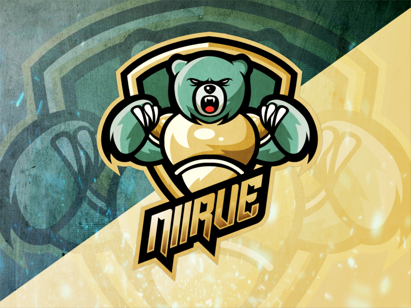 """NIIRVE"" Bear Warrior Logo twitch.tv digital illustration illustration digitalart twitch esports mascot design procreate graphic design digital art"