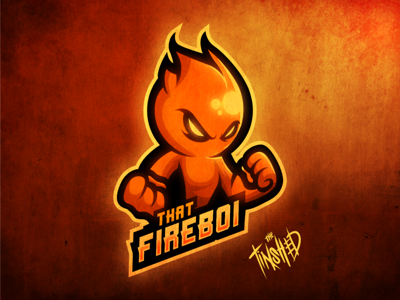 """THAT FIREBOI"" fire elemental logo for streamer procreate twitch.tv digital art logo twitch design digitalart esports mascot digital illustration graphic design"