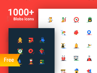 1000+ Free blobs flat icons with two styles colorful flat icons free download free icons download free icons