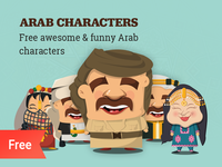36 Free Arab characters illustrations