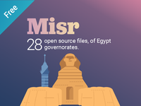 Free 28 open source files of Egypt governorates
