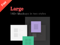 140+ Free Large mockups, unique layouts to present your work