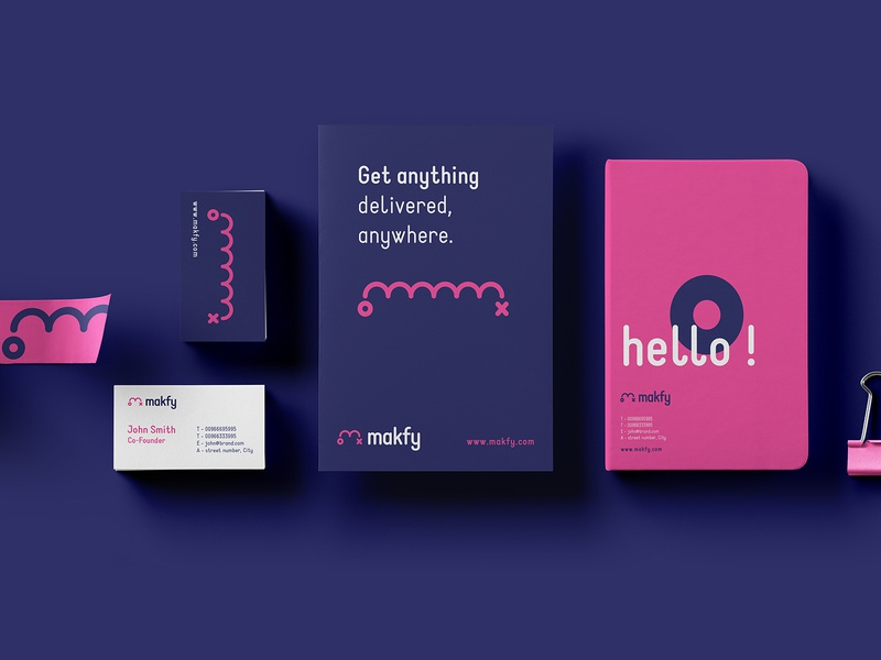 Makfy Brand Identity logo brand identity brand and identity branding brand design online store delivery services delivery shopping store