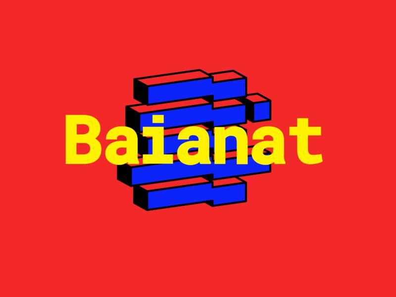 Baianat Logo webdesign brand ux ui business code digital technology brand identity brand id bold brand identity design branding design dot lines abstraction abstract logo baianat