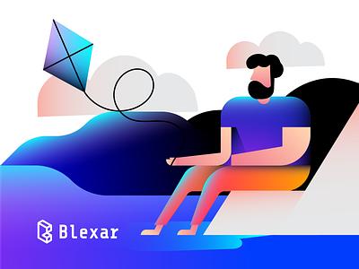 Blexar Illustration brand identity branding brand web illustrations art school visual art art direction design language design system kitesurf surfing kite inspiration illustrations illustration