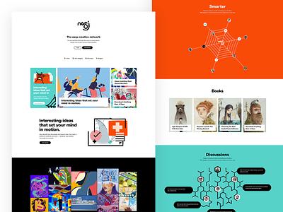 Nasj UI/UX Design index page index design website web design platform social media branding uidesign illustrations web illustraitons webdesign nasj ux ui