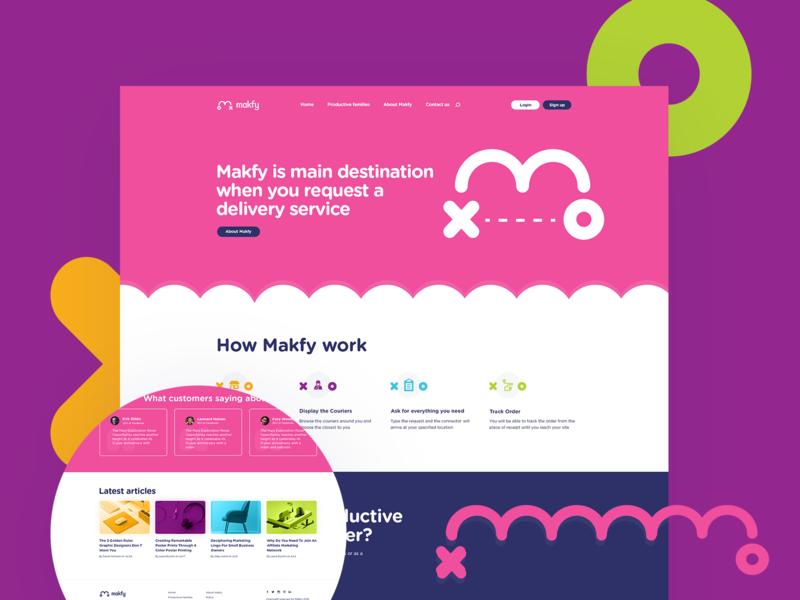 Makfy UI/UX Design web  design web page landing page index interaction e commerce web design user experience user interface ux ui brand identity branding makfy