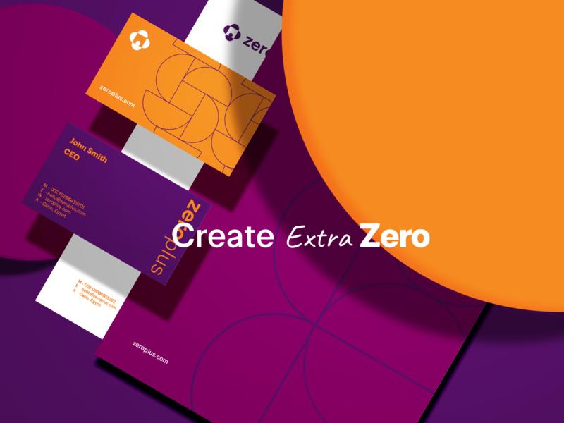Zero+ Brand Identity vector identity flat design graphic design graphics brand logo brand identity design branding influencers busienss zero