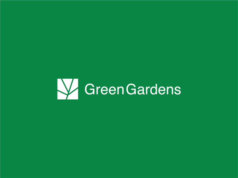 Greengarden Logo & Brand Identity icon logo design identity flat design graphic design graphics brand brand identity design branding grass logodesign logo gardening landscape garden green greengarden
