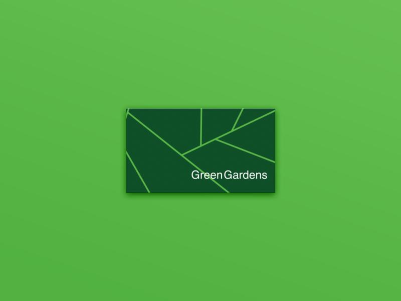 GreenGarden Brand Identity card design green landscape garden graphic design graphics logo brand brand identity design branding greengarden