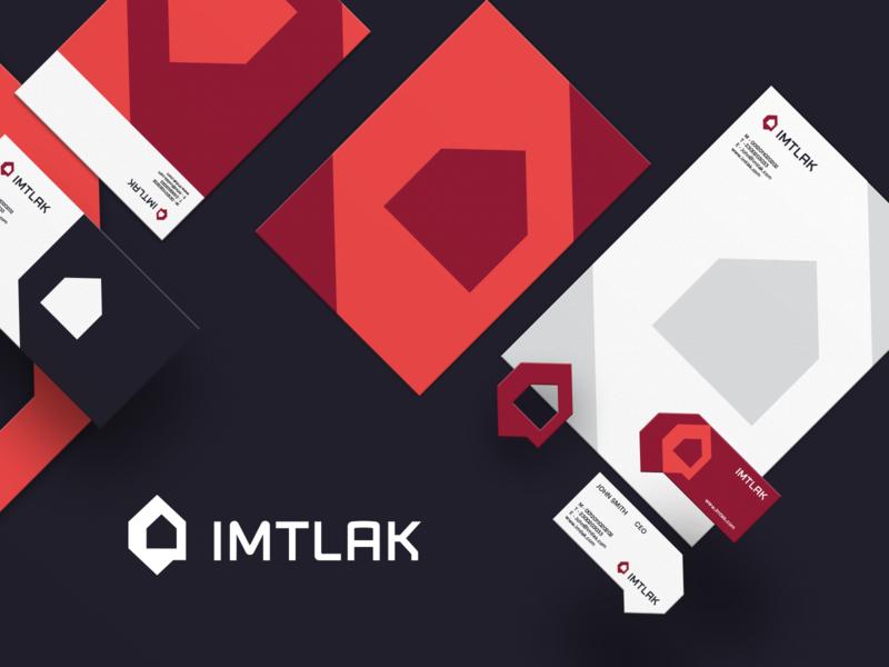 IMTLAK Brand Identity Designn typography graphic design graphics logo brand brand identity design branding property business housing compound real estate imtlak