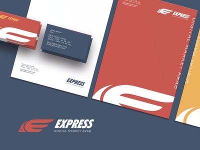 Express Brand Identity Design flat design identity graphics logo brand brand identity design branding digital marketing agency digital digital marketing express