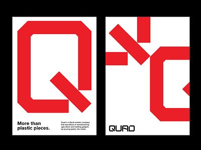 QUAD Logo & Brand Identity Design graphics graphic design identity design brand identity brand logo branding visuals company agriculutre plastic quad
