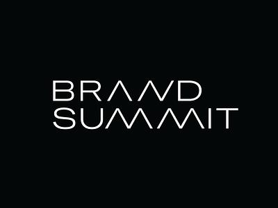 Brand Summit Logo & Brand Identity Design typography graphics identity graphic design brand brand identity design branding logo design typogralhy logo type logo brand summit