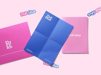 PinkBlue Logo & Brand Identity Design logo brand brand identity design branding identity baby prands baby product baby childrens children kids blue pink pinkblue