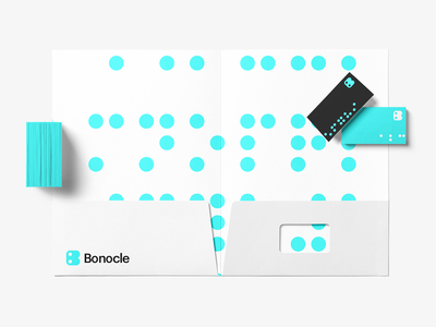 Bonocle Brand Identity Design graphics graphic design identity brand design brand identity branding monogram logo logo design logo braille bonocle