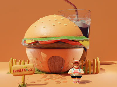 Tsro 3D Illustrations 3d render render animation advertising ads illustrations illustration modelling 3d restaurant campaign food point of sale trso