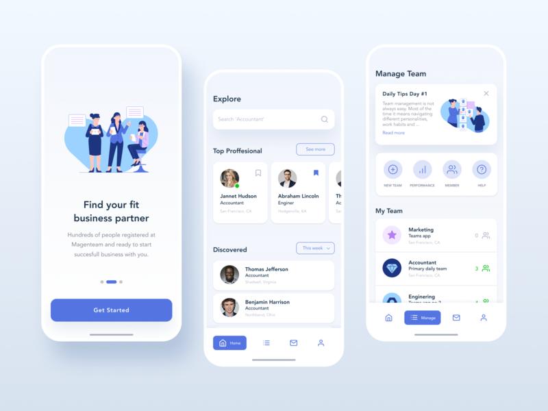 Magenteam-Find your business partner app