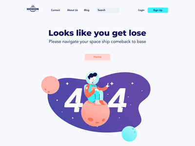 space 404 error page error page character animation people landing page 404 space astronaut ux ui logo flat design illustration