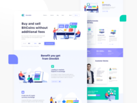 Illustration pack for cryptocurrency market Landing Page