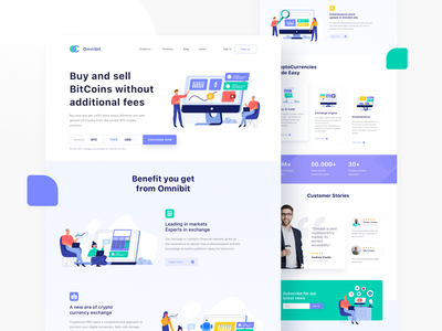 Illustration pack for cryptocurrency market Landing Page web website bitcoins branding cryptocurrency flat ui landing page illustration