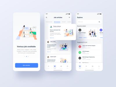 Job seek-illustration on app