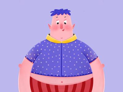 一个胖胖的小男孩