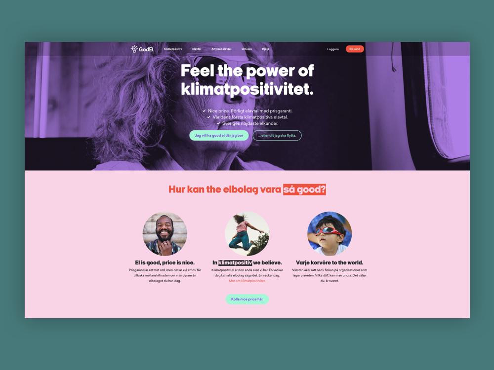 Godel branding web design
