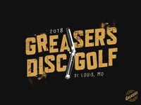 2018 Greasers Disc Golf Club outsiders sodapop ponyboy shirt logo grit rumble knife grunge disc golf greasers switchblade