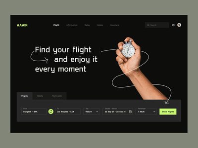 Web design:  Booking Flights Concept illustration ui design flights booking web page web hero section visual identity