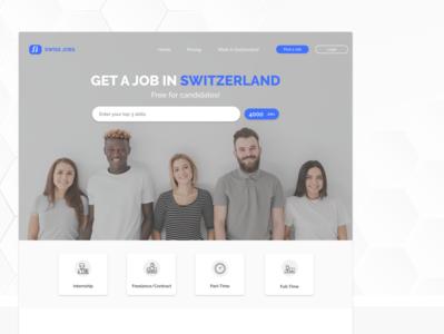 Swiss Jobs icon typography ux uiux branding logo design webdesign ui design