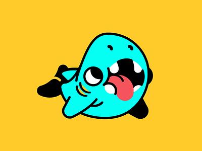 Shork tokems icon logo shark illustration