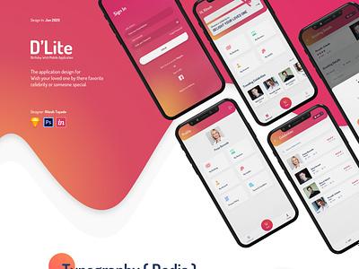 D'Lite Application typography vector ux ui design