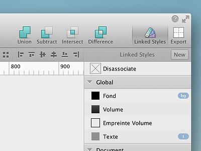 Linked Styles Management for Sketch.app mac app sketch retina