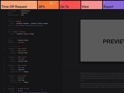 Carrot Cobra — Text Editor Exploration syd mead editor menu input helvetica web