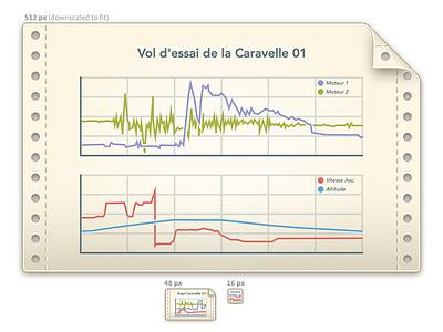 Plot Document Icon chart plot retina document 16 48 256 icon sketch