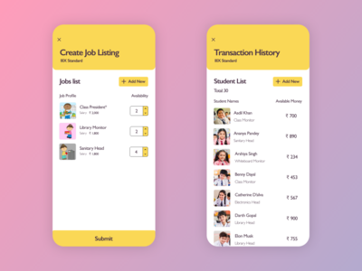 Classroom Economy - Teacher App