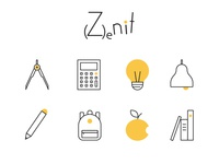 Icons Set for School - Zenit Branding
