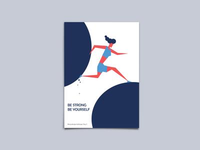 Be Strong - Poster Design - #easydesignchallenge