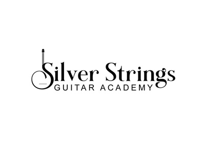 Silver Strings logo design icon vector