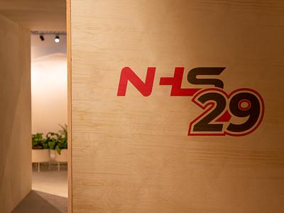 NHS29 flat vector branding design logo