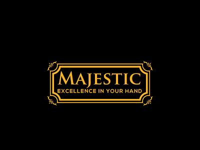 Majestic vector typography minimal design logo branding
